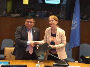 Yingke UN signature
